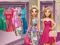 Elsa And Rapunzel Dressing Room