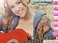 Miley Cyrus Plays Guitar Dressup