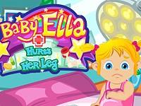 Baby Ella Hurts Her Leg