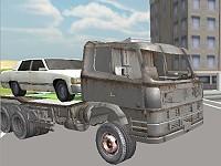 3D Car Transporter Truck