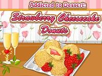 Addicted to Dessert: Strawberry Cheesecake Donuts