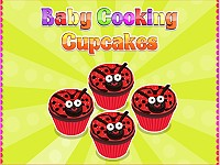 Baby Cooking Cupcakes