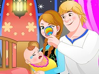 Anna And Kristoff Care Newborn Princess
