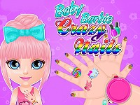 Baby Barbie Crazy Nails