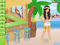 Tiki Cafe Waitress