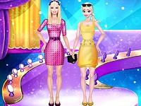 Super Models Elsa and Barbie