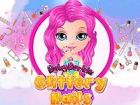 Baby Barbie Glittery Nails